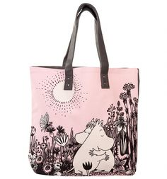 If you\'re a fan of the Moomins - this adorable shopping bag may just be your new BFF. Featuring Moomintroll and Snork Maiden in a loving embrace, we can\'t help but go \'awwwwww\'! Disaster Designs, Pink Grey, Beige, Ipad Sleeve, Moomin, One Bag, Pretty Boys, Bff, Shopping Bag