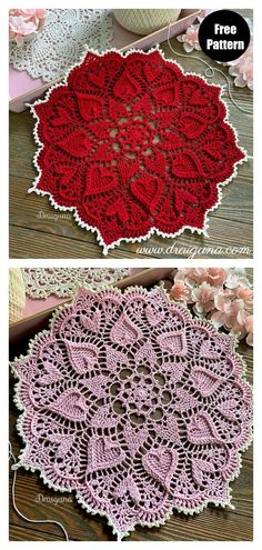 Sweetheart Soiree Hearts Around Doily Free Crochet Pattern These Hearts Around Doily Free Crochet Patterns work up very quickly and only require little bit of yarns. Your loved ones will smile every time they see it. Thread Crochet, Crochet Crafts, Crochet Stitches, Crochet Projects, Crochet Granny, Free Crochet Doily Patterns, Crochet Designs, Crochet Doily Diagram, Crochet Tablecloth Pattern