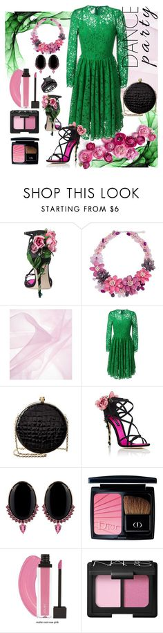 """go green"" by molly-072 ❤ liked on Polyvore featuring Dolce&Gabbana, NOVICA, Alexander McQueen, Joana Salazar, Christian Dior and NARS Cosmetics"