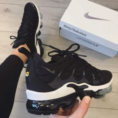newest d103c 4deb7 Nike Air VaporMax Plus Trainers in Black and White. 20 years since the Air  Max Plus debut  Nike combine the striking silhouette with a translucent  VaporMax ...
