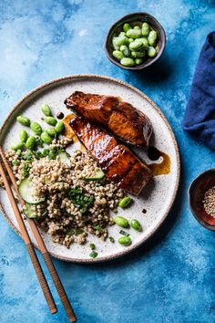 Caramelized Teriyaki Salmon with Sesame Toasted Buckwheat | halfbakedharvest.com @Half Baked Harvest