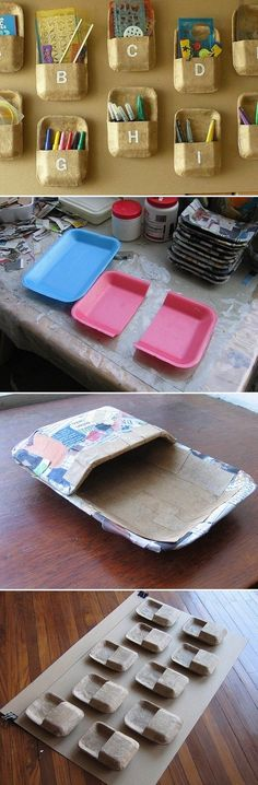 Diply.com - Four Inventive Ways to Organize With Your Kitchen Recyclables!