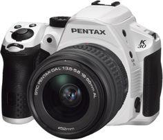 Pentax K-30 16 MP CMOS Digital SLR 18-55 WR Lens Kit Silky White