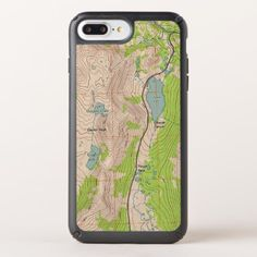 Topographic Map (Tioga Pass California) Speck iPhone Case - outdoor gifts unique cyo personalize