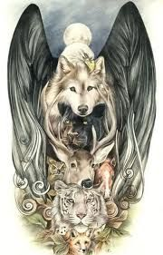 wolves...deer..jaguar..bengal tiger..horse..eagle..moon. aka EVERYTHING. WOW