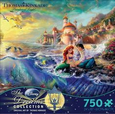 """Thomas Kinkade Disney Dreams COLLECTION """"The Little Mermaid"""" 750 Piece Jigsaw Puzzle MADE IN USA Ceaco http://www.amazon.com/dp/B00H5LFP20/ref=cm_sw_r_pi_dp_4jE1tb1EJKQK7RSP"""