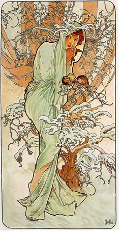 Home Decor Art Print by Alphonse Mucha named by ArtdeLimaginaire, $10.99