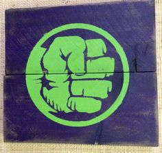The Hulk Super Heroes Sign. Hand Made from Distressed, Reclaimed, Barn, Pallet or Western Red Cedar Wood