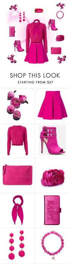 """""""pink passion"""" by rachel-hack-1 ❤ liked on Polyvore featuring FAUSTO PUGLISI, Helmut Lang, JustFab, WithChic, Gucci, Michael Kors, BaubleBar and Sydney Evan"""