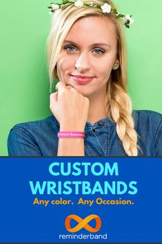 Customize your very own silicone wristband today! Perfect for fundraisers school events sports causes personal reminders churches and organizations -- just about everything!