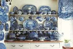 Blue and White Collection in the home of Jonathan Vickers