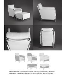 Interchange Fabric, Lounge Chairs, Vignette, Mariner Lounge, Fabric Panels