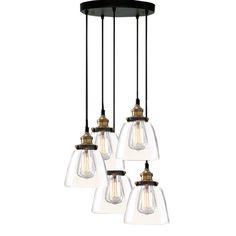 Euna Adjustable Cord Edison Lamp - Overstock Shopping - Great Deals on Warehouse of Tiffany Chandeliers & Pendants
