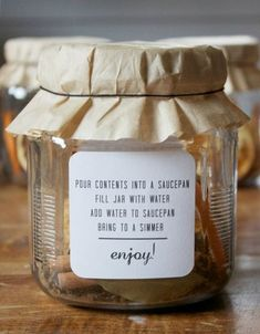 DIY Christmas in a Jar.