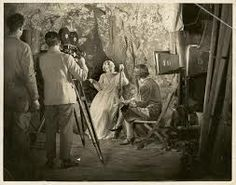 Paulette McDonagh directing a scene from The Far Paradise.
