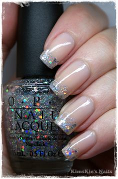 Multi colored glitter brings out the color of what ever you have on!