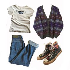Indie Outfits, Teen Fashion Outfits, Retro Outfits, Grunge Outfits, Look Fashion, New Outfits, Vintage Outfits, Swaggy Outfits, Cute Casual Outfits