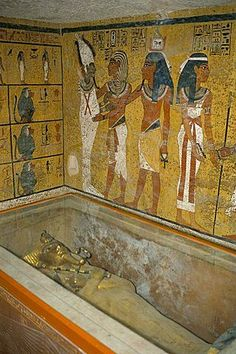 Interior of the tomb of Tutankhamun, Valley of the Kings, UNESCO World Heritage Site, West Bank, Luxor, Thebes, Egypt, North Africa, Africa #AncientEgypt