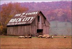 See Rock City on Lookout Mountain, TN.  Really neat place to go...been there twice!