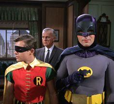 Batman and Robin at Gotham City Police Headquarters.