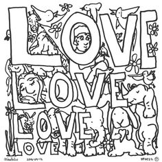 Love Grows On Love  Take a green cutting  Bring it to root Dress it up neatly Dirty brown suit  Kiss it with water Fresh sunny air Protect it from looters Tend it with care  Love grows on love Gardeners agree So plant lots of cuttings Graft tree upon tree  Fill up a clearing Fenced in by loves Invite nice giraffes Rhinos and doves  Climb on the letters Ell Oh and Vee Ee Laugh with your friends  Tom-Tom and Kiki  Love grows on love Nourishing sweet fare Plant lots of cuttings  There's plenty…