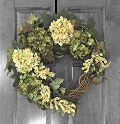Front Door Wreath, Door Decor, Hydrangea Wreaths for Fron...