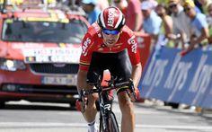 """Tour de France: """"Je suis en forme"""" déclare Thomas De Gendt, 6e du contre-la-montre et meilleur Belge -                  Vainqueur de la 12e étape du Tour de France au Mont Ventoux le 14 juillet dernier, Thomas De Gendt (Lotto-Soudal) a terminé 6e et premier Belge de la 18e étape, le contre-la-montre de 17 km entre Sallanches et Megève, disputé jeudi 21 juillet, jour de la fête nationale belge.  http://si.rosselcdn.net/sites/defa"""