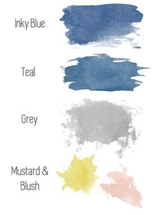 Our Dream West Elm Living Room living room color schemes Blue And Mustard Living Room, Mustard And Grey Bedroom, Blue Gray Bedroom, Grey Room, Living Room Ideas Grey And Blue, Grey Bedrooms, Blush Living Room, Navy Living Rooms, Blue Rooms
