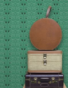 want this wallpaper in my house someday.   grow house grow! a story for every storey