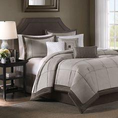 Gray bedroom, male friendly.