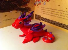 Hot pink dragon by Dragonsandthings on Etsy, £5.00