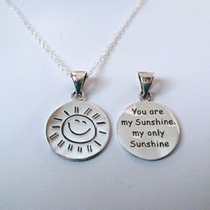 FashionJunkie4Life - You Are My Sunshine Necklace in Sterling Silver