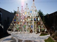 Sea Glass Sailboat...no instructions, but how cool??