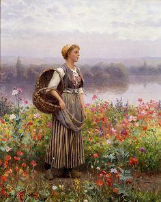 A Florista - Daniel Ridgway Knight e suas mais belas pinturas