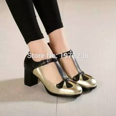 2016 New Luxury Designer Brand Women T Strap Genuine Leather High Heel Shoes Round Toe Women Pumps High Quality Shoes sandal alishoppbrasil
