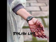 Easy Mehedi design | Simple Mehedi design | stylish life #mehedi - YouTube Dulhan Mehndi Designs, Palm Mehndi Design, Mehndi Designs Finger, Basic Mehndi Designs, Back Hand Mehndi Designs, Latest Bridal Mehndi Designs, Stylish Mehndi Designs, Mehndi Designs 2018, Mehndi Designs For Beginners