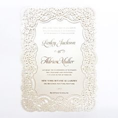 2016 Doiley Laces by B Wedding Invitations