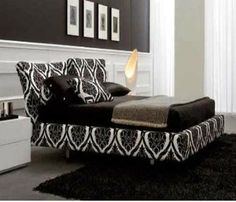 Will add splashes of RED... Black and White Bedroom Ideas