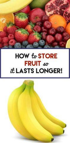 How to store fruit so it last longer