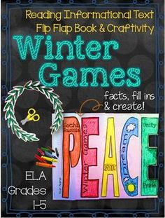 Winter Games, Get Ready For Pyeongchang, Winter Sports, Medal Count, & History Text Based Evidence, Education Templates, Drama Games, British Literature, Middle School Ela, Winter Games, Winter Olympics, Interactive Notebooks, Winter Sports
