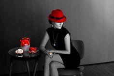 Anillo Rubén Chao, colgante Rosa Méndez, sombrero Viviana Araujo y juego de café Carmen Labrador