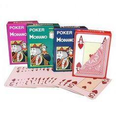 100% plastic pokerkaarten met jumbo index.  Deze kaarten zijn geproduceerd door de Italiaanse speelkaartenfabrikant Modiano.   De Modiano jumbo speelkaarten zijn verkrijgbaar in 4 kleuren en staan bekend om de stevigheid van de poker kaart.  De Modiano speelkaarten zijn te kopen bij onze webshop www.pokerchips.nl.