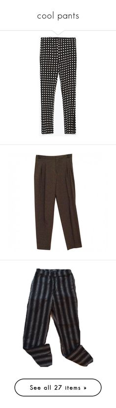"""cool pants"" by invenietis on Polyvore featuring pants, capris, bottoms, trousers, pantalones, cropped pants, zara trousers, cropped trousers, bell bottom pants und bellbottom pants"