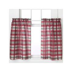 Dawson Tier Curtain Pair, Red