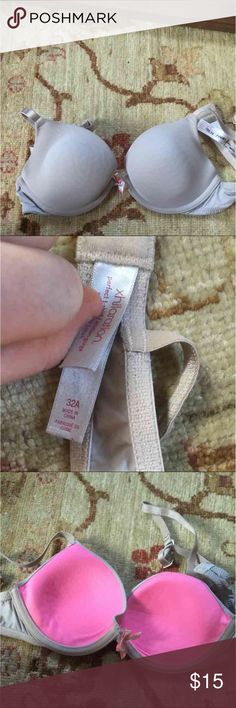 32a nude tan lightly lined bra xhilaration Has a few signs of wear but nothing too bad :) good condition Xhilaration Intimates & Sleepwear Bras