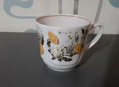 Vintage Soviet USSR LATVIA Riga RPR 1st grade porcelain Mug Cup Dandelion #Riga