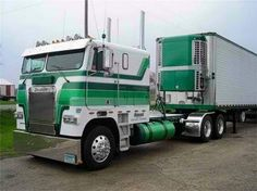 Coe Freightliner custom with matching reefer