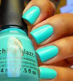 Turquoise Nail Polish  #fashion #beauty
