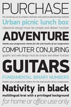 The DIN typeface superfamilies by Parachute®, via Behance