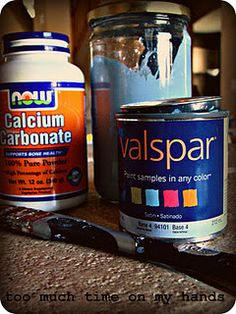 make your own chalk paint for cheap